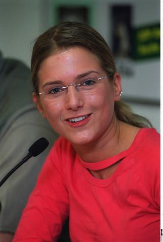 "Jeanette Biedermann beiu Fototermin ""Gerry Weber Open"" am 10.06.2002 in Halle (Westfalen)"